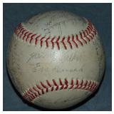 1946 Cardinals World Series Baseball. JSA.