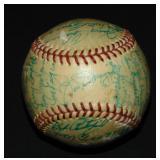 1951 Yankees Team Ball Signed. PSA Letter.