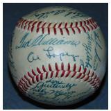 1955 All Star Baseball Signed. PSA.