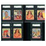 1933-40 Goudey Indian Gum, Graded Lot of 7