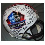 Pro Football Hall of Famers Multi Signed Helmet