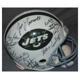 1968 New York Jets Team Reunion Signed Helmet