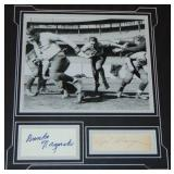 Bronko Nagurski & Red Grange Signed Display