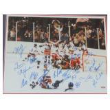 """1980 USA Hockey """"Miracle on Ice"""" Team Signed Photo"""