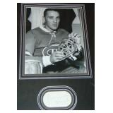 Jacques Plante Signed & Matted Display