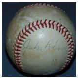 Jackie Robinson Single Signed Baseball