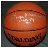 George Mikan Signed Leather NBA Game Basketball