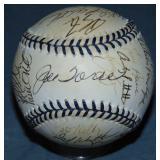 1996 New York Yankees Team Signed Baseball