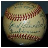 1947 New York Yankees Team Signed Baseball