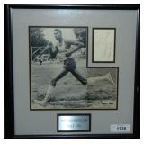 Wilt Chamberlain Signed Cut Signature Display