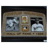 Honus Wagner Signed Cut Signature Display Piece