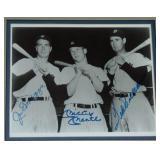 DiMaggio, Mantle & Williams Signed Photograph