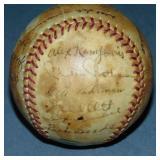1938 New York Giants Team Signed Baseball