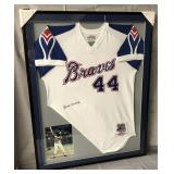 Hank Aaron Signed Limited Edition Braves Jersey