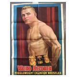 1908 Waino Ketonen Wrestling Poster