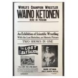 Waino Ketonen Wrestling Poster