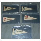 (5) American Nut & Chocolate Baseball Pennants