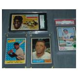 (4) Willie Mays Baseball Cards