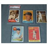 (5) Mickey Mantle Topps Baseball Cards