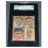 1935 Goudey 4 in 1 Babe Ruth Baseball Card