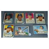 (7) 1952 Topps Baseball Cards