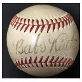 Beautiful Babe Ruth Single Signed Baseball c.1935
