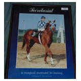 Secretariat. 20th Anniversary Poster Signed.