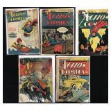Action Comics #30, 41, 42, 85, & 102