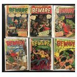 Beware Golden Age Comic Lot of 6