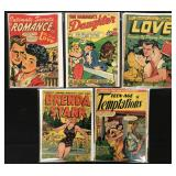 Golden Age Romance Comic Lot of 5