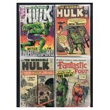 Silver Age Early Hulk Lot of 4 Comics