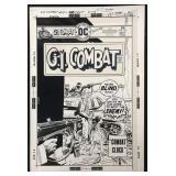 Joe Kubert. G.I. Combat #182 Cover.