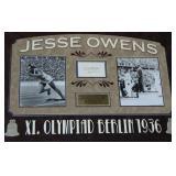 Jesse Owens Signed Cut Signature Display Piece