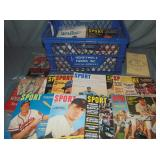 Crate Lot of Sports Publications & Magazines