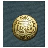 1946 Brooklyn Dodgers Phantom WS Press Pin