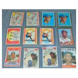 (12) Ernie Banks Topps Baseball Cards