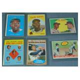 (6) Hank Aaron Topps Baseball Cards