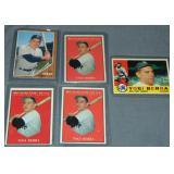 (5) Yogi Berra Topps Baseball Cards
