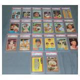 (20) Topps Baseball Cards 1960-1966 Slabbed