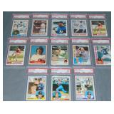 (13) Slabbed Baseball Cards, Ripken, Ryan, Jackson