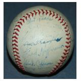 Circa 1940 St. Louis Browns Team Signed Baseball