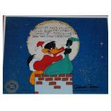 Chuck Jones Signed Ltd Ed Cel, Daffy Santa