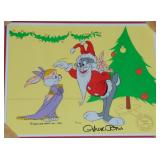 Chuck Jones Signed Ltd Ed Cel, Santa Bugs & Bunny