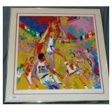 LeRoy Neiman Signed Serigraph Olympic Basketball