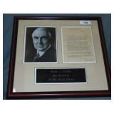 Warren G. Harding. Signed TLS.
