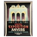 1930 Antwerp Exhibition Advertising Poster
