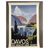 1932 Davos for Health And Sport Travel Poster