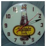 Nu Grape Advertising Clock.