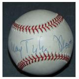 Mary Tyler Moore Baseball Signed.