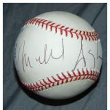 Michael Douglas Baseball Signed.